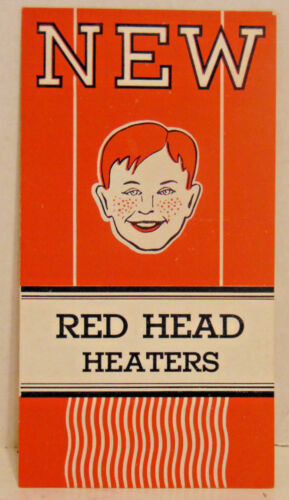 1932 Red Head Heaters Brochure, Planet Model, Comet Model, Car Heaters, 4 Pages