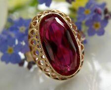 Designer Ring 583° Gold echter Rubin Russland Gr.51  im Jugendstil 1960 R222