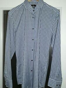 Just Boss Size 16 Slimfit Mens Shirt Be Shrewd In Money Matters Men's Clothing