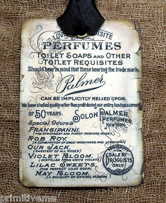Hang Tags  OLD PERFUMES ADVERTISING TAGS or MAGNET #412  Gift Tags