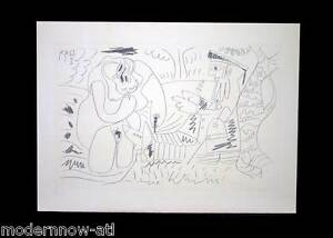 P. PICASSO Lithograph Ltd Ed.106/150 Wtrmk ARCHES +Cat. Ref. c118 +Custom FRAME
