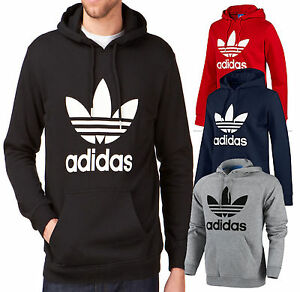 Image is loading Adidas-Originals-Mens-Trefoil-Fleece-Hooded-Sweatshirt- Hoodie- 2259a165d