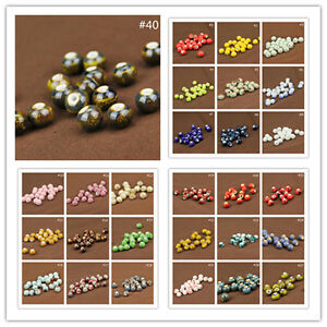10-30Pcs-Round-Ceramic-Porcelain-Loose-Spacer-Big-Hole-Beads-Charms-10mm-New