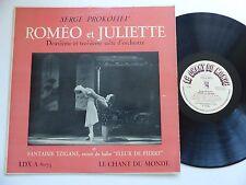 SERGE PROKOFIEV Romeo et Juliette CHANT DU MONDE LDX A 8073Orch Leningrad GAOUK