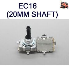 EC16 ROTARY Encoder Longer 20MM SHAFT Digital 24 Pulse 360 Degree UK STOCK