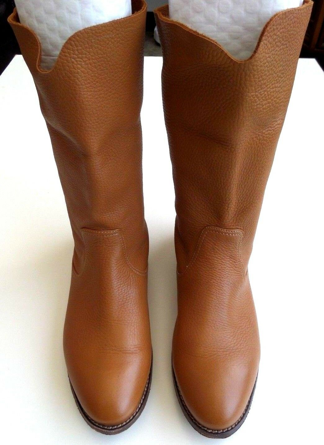 H.S. Trask Ava Ava Ava Womens Tan Brown Leather Boots Size 9 9bb5a5