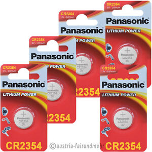 5x Panasonic Cr2354 Lithium Batterien Für Polaruhr 3v Exquisite Handwerkskunst;