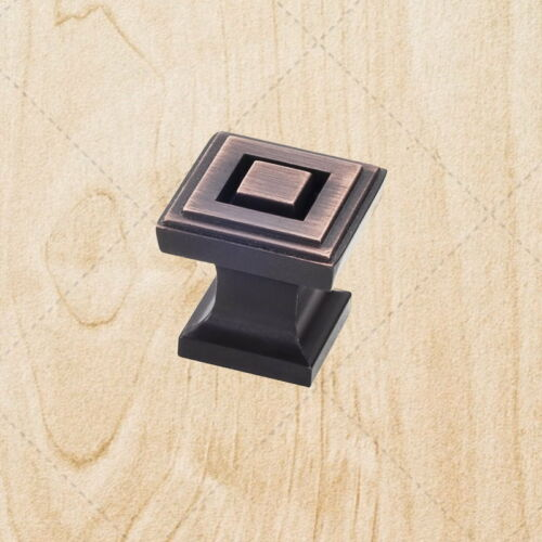 "Cabinet Hardware Square Knobs kc85 Brushed Oil Rubbed Bronze 1/"" Pull"