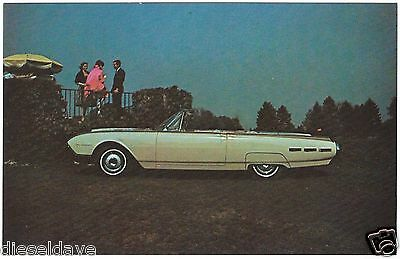 1962 Ford THUNDERBIRD Convertible NOS Dealer Promotional Postcard UNUSED VG+//EX