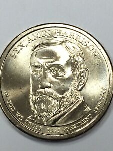 2012-P /& 2012-D Benjamin Harrison Presidential Dollar uncir coins from mint roll
