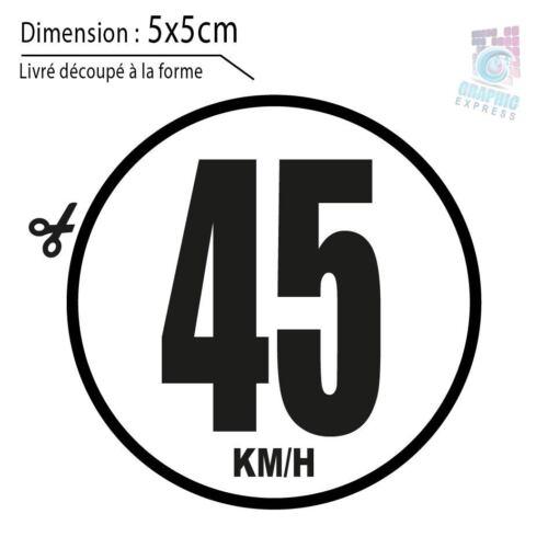 45 KM//H LIMITATION VITESSE BUS TRACTEUR POIDS LOURD ADHÉSIFS AUTOCOLLANT STICKER