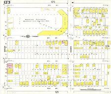 1910 BORCHERT FIELD MILWAUKEE WI MINOR LEAGUE STADIUM SANBORN PLAT ATLAS MAP
