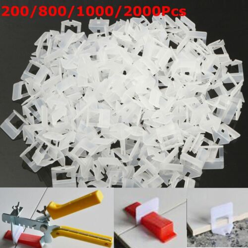 100//400Pcs Tile Leveling System Clips /& Wedges Plastic Spacers Tiling Tools