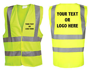 Eu Vis Vest Printed Emergency Details Personalised About Hi Safety nk80OPXw
