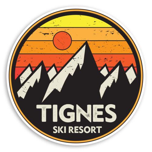 2 x 10cm Tignes Ski Resort Vinyl Stickers France Snowboard Sticker #31382
