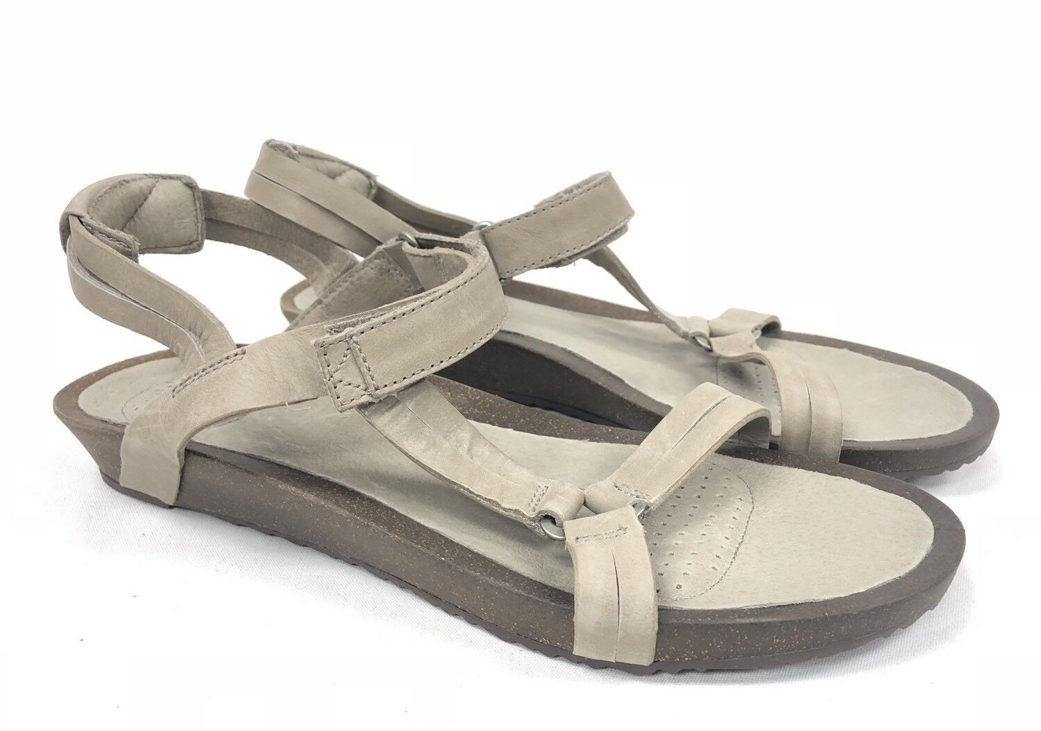 TEVA WOMENS SANDALS YSIDRO UNIVERSAL Taupe Leather 1015121 STRAPPY