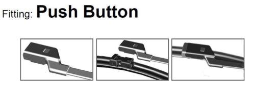 06.2016 F57 /> Front Flat Aero Wiper Blades S/'adapter AUDI A5 Cabriolet