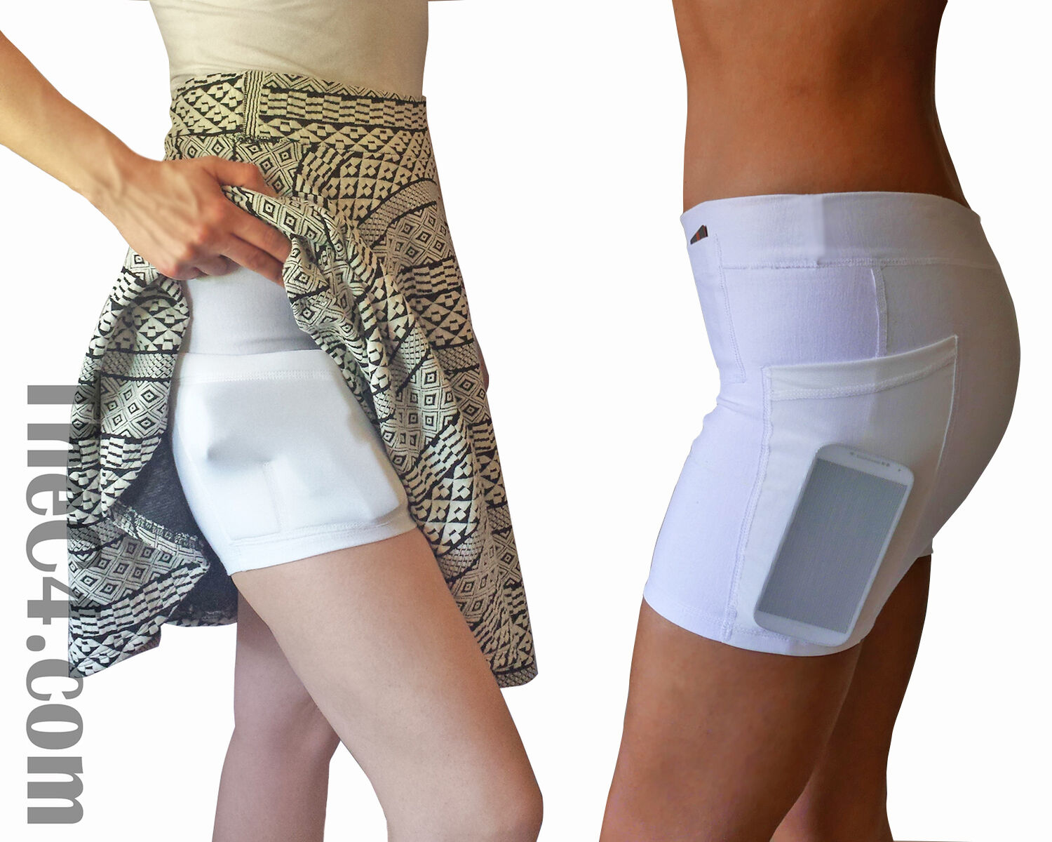 Concealed Carry Holster Pantalones cortos para mujer