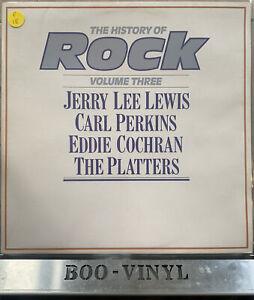 THE HISTORY OF ROCK VOL 3 EDDIE COCHRAN JERRY LEE  DOUBLE VINYL RECORD EX CON