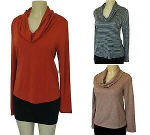 Women's Top Blouse Cowl Neck Shirt Lightweight Sweater ...