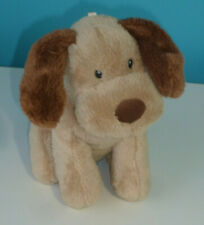 "MOTHERCARE LARGE 14/"" PATCH PUPPY DOG BROWN BEIGE COMFORTER SOFT BABY HUG TOY"