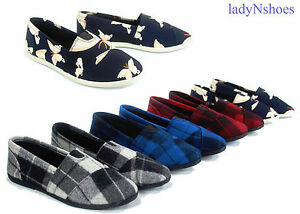 Soda-Women-039-s-Plaid-Causal-Comfort-Slip-On-Round-Toe-Flat-Shoes-Size-5-5-11-NEW