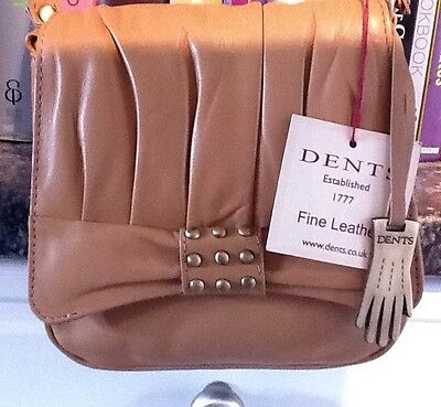 DENTS FINE LEATHER SMALL SHOULDER BAG COLOUR TOFFEE BNWT
