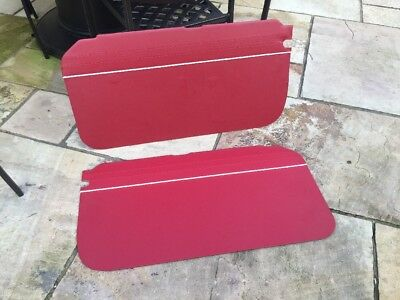 Mgb gt  black with red piping    piping door cards 65-68