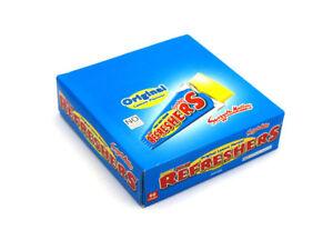 60 x Swizzels Refreshers Chew Bars Original Lemon Flavour - Retail Case