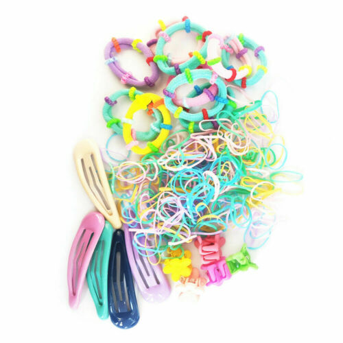 Details about  /220PCS Girls Hair Band Ties Rope Ring Elastic Hairband Ponytail Holder Decor