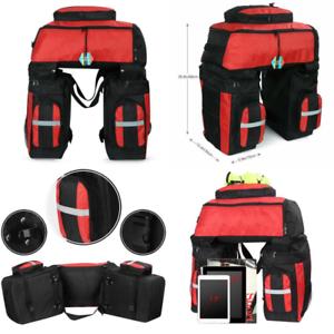 Pellor 70L MTB Bike Waterproof 3 in 1 Rear Bicycle Bag Pannier Bags Bike Rack...
