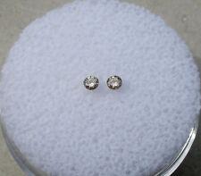 Champagne diamond round pair 2mm each