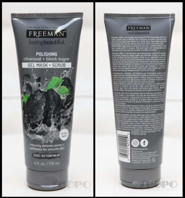 Freeman Facial Charcoal & Black Sugar Polish Mask 6 oz. - Set of 2 6 Pack - Biotherm Blue Therapy Eye Repair Cream 0.5 oz