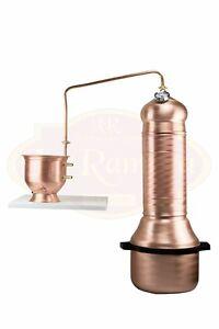 100% Vrai Alambicco Distillatore 15 Litri Colonna, Adatto A Tutti I Tipi Di Distillazione Produits De Qualité Selon La Qualité