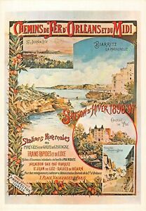 CP Poster Chemins Iron Orleans & Midi Biarritz Edit Mic Max 2968