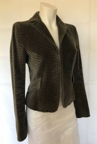 Akris 4 Lining Sz Jacket Velvet With Fitted Punto Us Long Sleeves Gray Bergdorf rqf7r