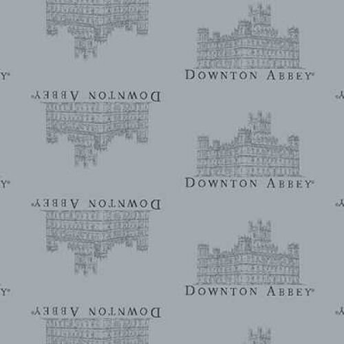 Logos /& Labels 7618 C Small Abbey Cotton Fabric Andover Downton Abbey