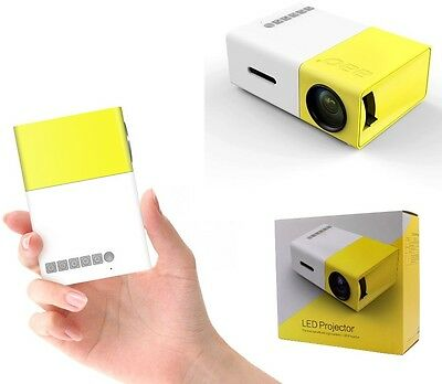 Mini HD 1080P LED Projector Home Cinema Theater Multimedia PC USB TV AV HDMI