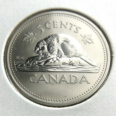 Canada 2000 P 5 cents Nickel Canadian High grade Low mintage