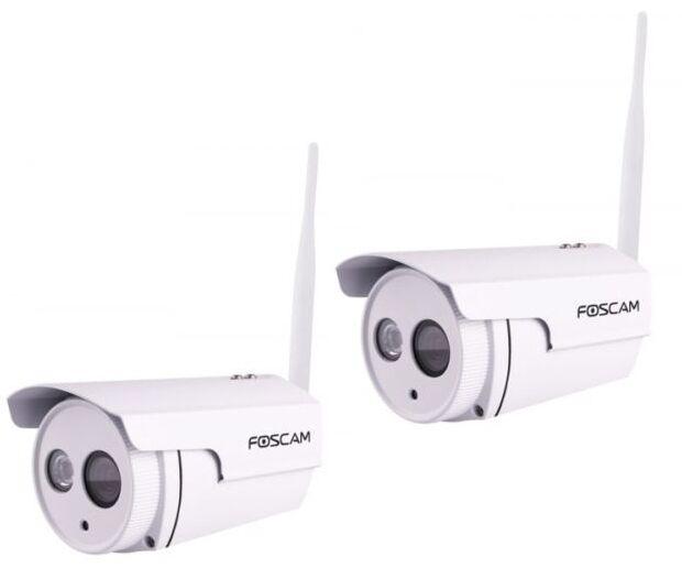 2 FOSCAM FI9803P TELECAMERA IPCAM  Wi-Fi ESTERNA ONVIF WIRELESS 720P MEGAPIXEL
