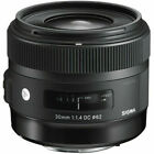 Sigma 30mm f/1.4 DC HSM Lens for Canon Camera with SanDisk 32GB SD Card