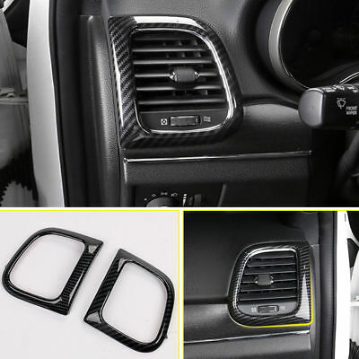 Carbon Fiber Style Gear Shift Panel Frame Trim For Jeep Grand Cherokee 2011-2018