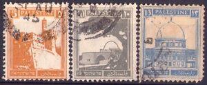 Palestine - Lotto Di 3 Rari Francobolli - 1927 Brillant En Couleur