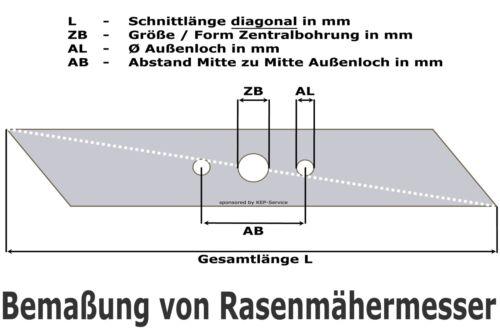 76cm Low Lift Rasenmähermesser MTD RH115 B 115//76 SPIDER 76 R 125//76 L450 C CC12