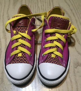 Converse All Star Pink Yellow Laces