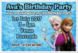 Image Is Loading PERSONALISED FROZEN BIRTHDAY PARTY INVITE INVITES INVITATION CARDS
