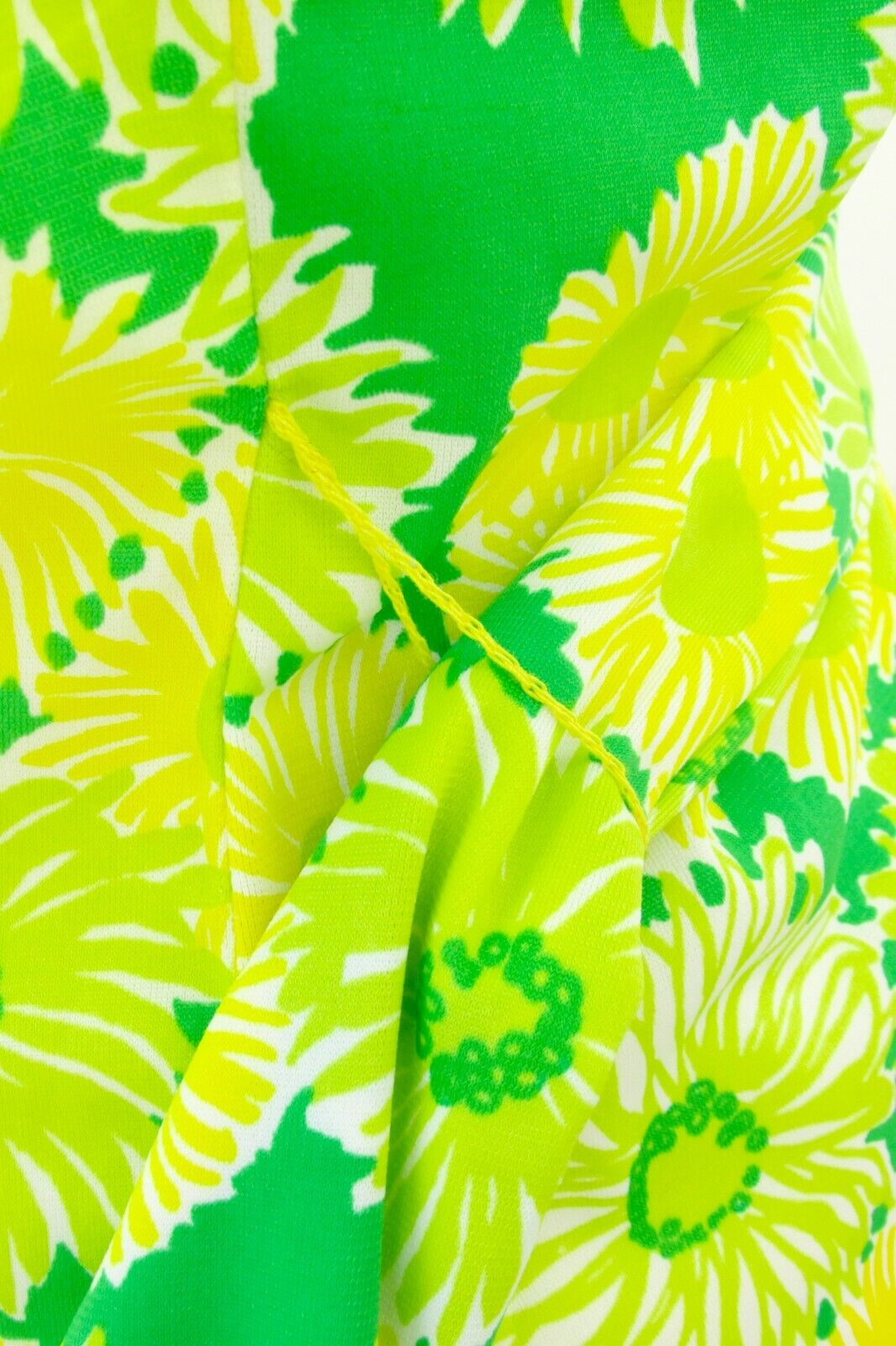 GREEN NEON VTG 70's Swimwear Cover Up-Perfection … - image 7