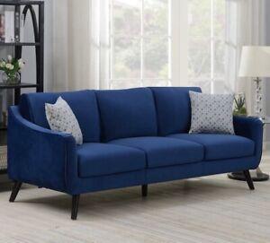 Bainbridge Blue Velvet 3 Seater Sofa