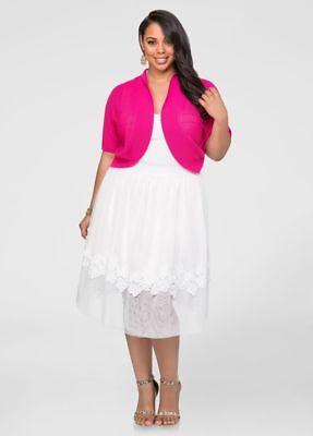 601dce79e Ashley Stewart Floral Applique Tulle Skirt-22/24 | eBay
