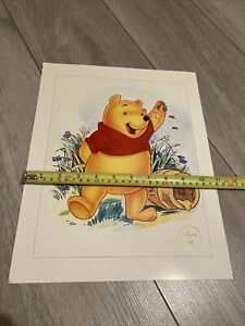 DISNEY STORE EXCLUSIVE LITHOGRAPH PRINT 1997 WINNIE THE POOH COMMEMORATIVE HUNNY